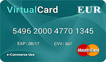 Vpayment | مستر کارت - یورو - برنزی ، صدور رایگان ، با کمترین نرخ شارژ
